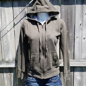 Soft Zipup Hoodie Sweatshirt in Army Green